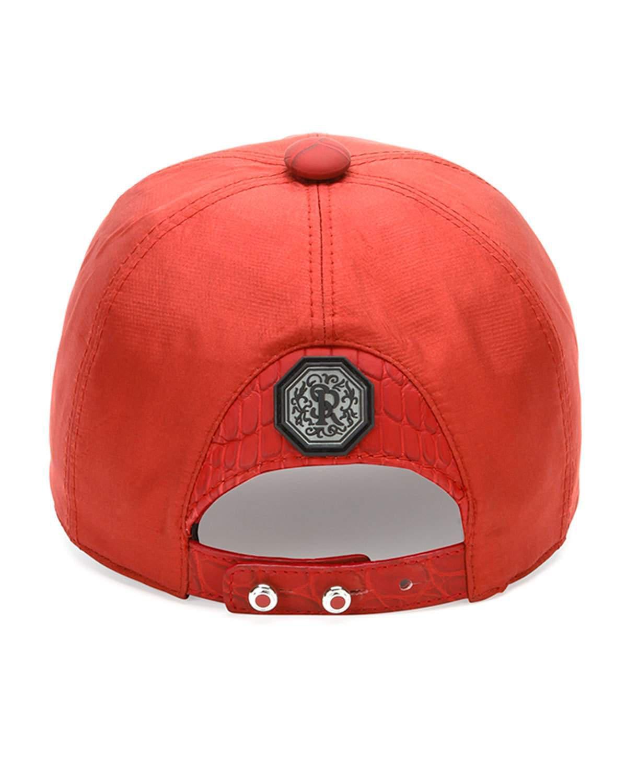 2a090c7797d Lyst - Stefano Ricci Croc-detail Silk Baseball Hat in Red for Men