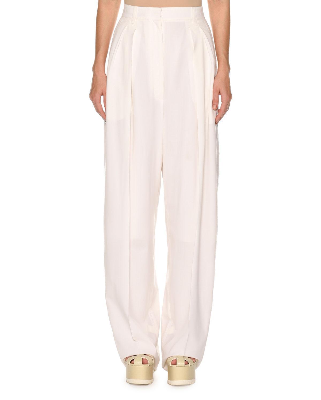 779b360a9ad15 Lyst - Agnona High-waist Superfine Poplin Double-pleated Pants in ...