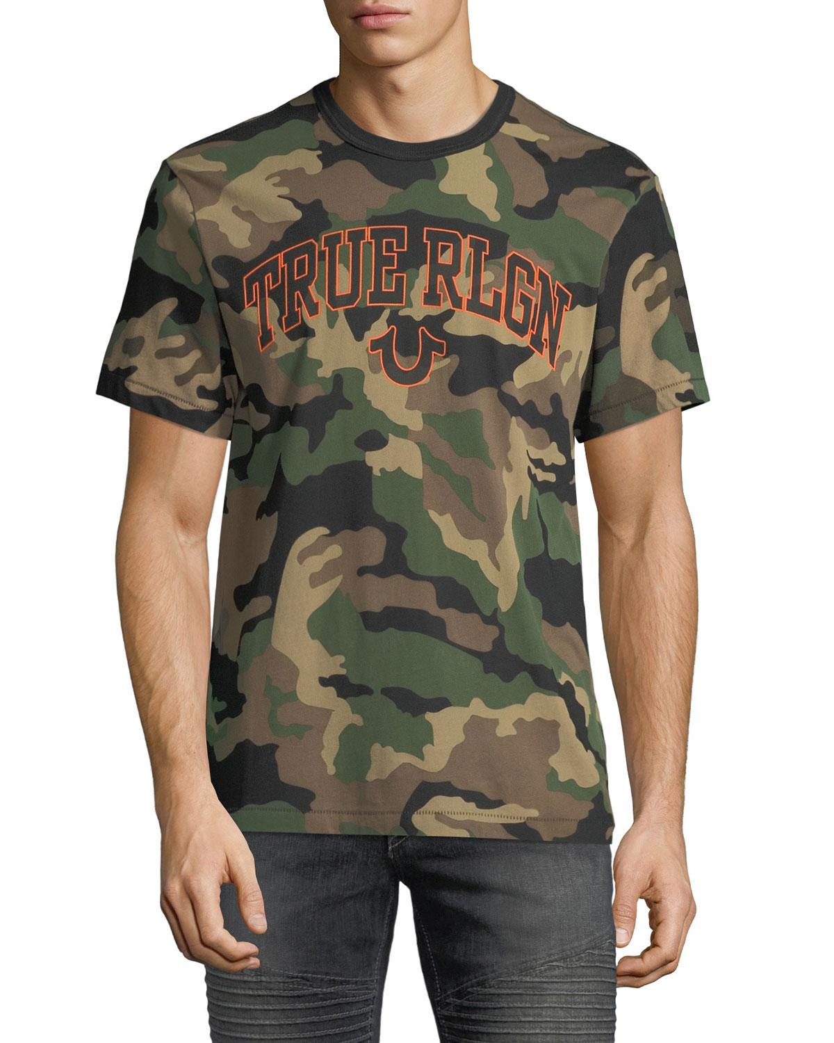 aa3bf206b737ca Lyst - True Religion Men s Derringer Camo T-logo Shirt in Green for Men