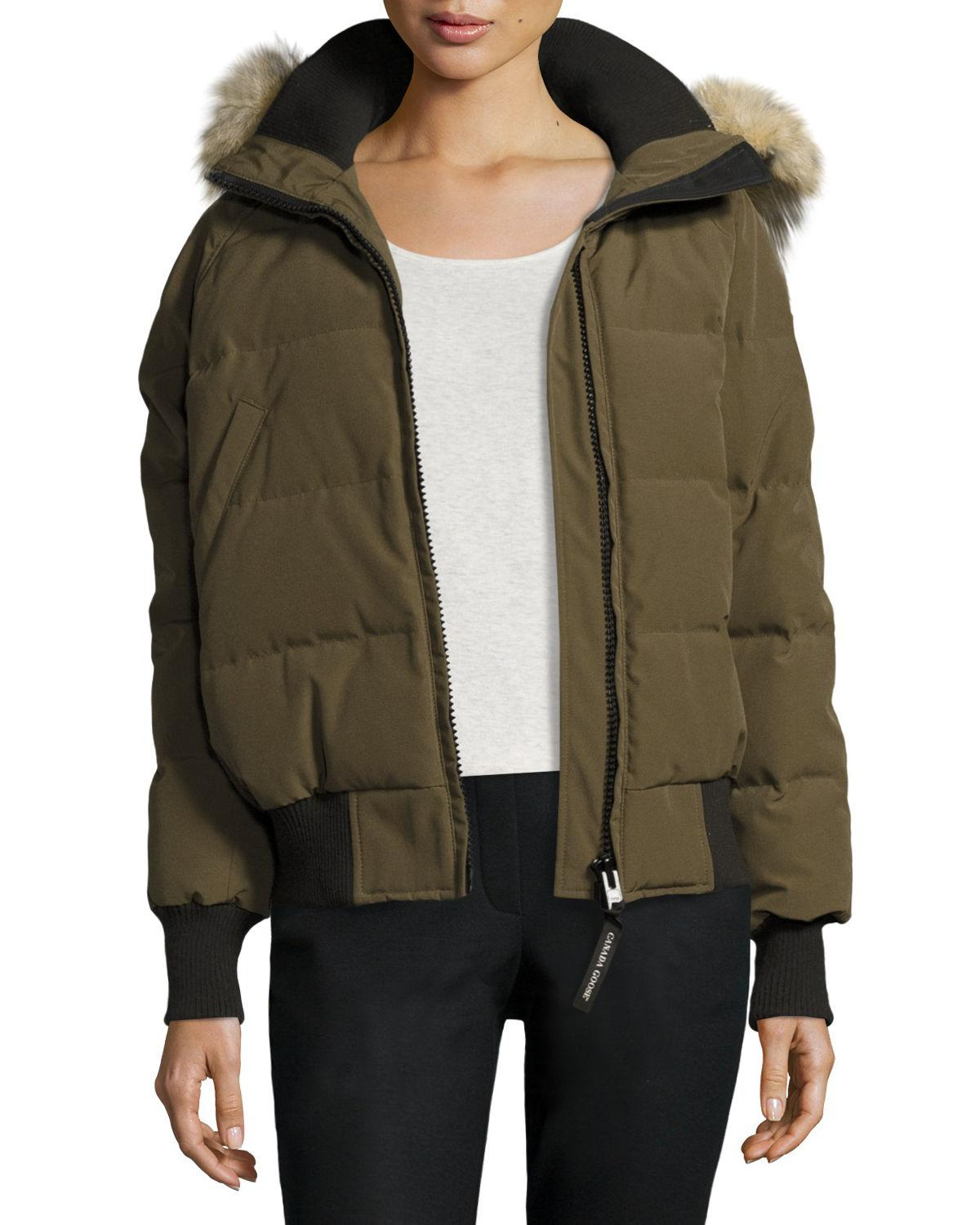 Canada Goose - Green Savona Hooded Quilted Bomber Jacket - Lyst. View fullscreen