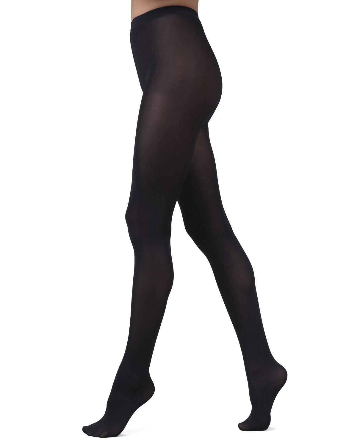 Low rise opaque pantyhose