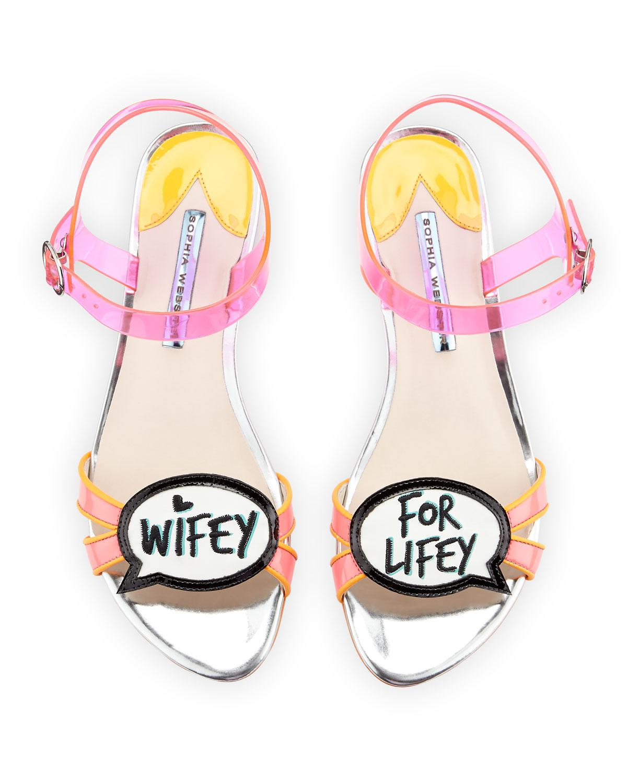 997c8a041636 Lyst - Sophia Webster Ellen Wifey For Lifey Speech Bubble Sandal in Pink