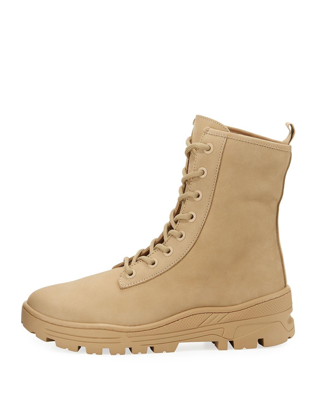 Giuseppe Zanotti Taupe Nubuck Military Boots lmx1yg