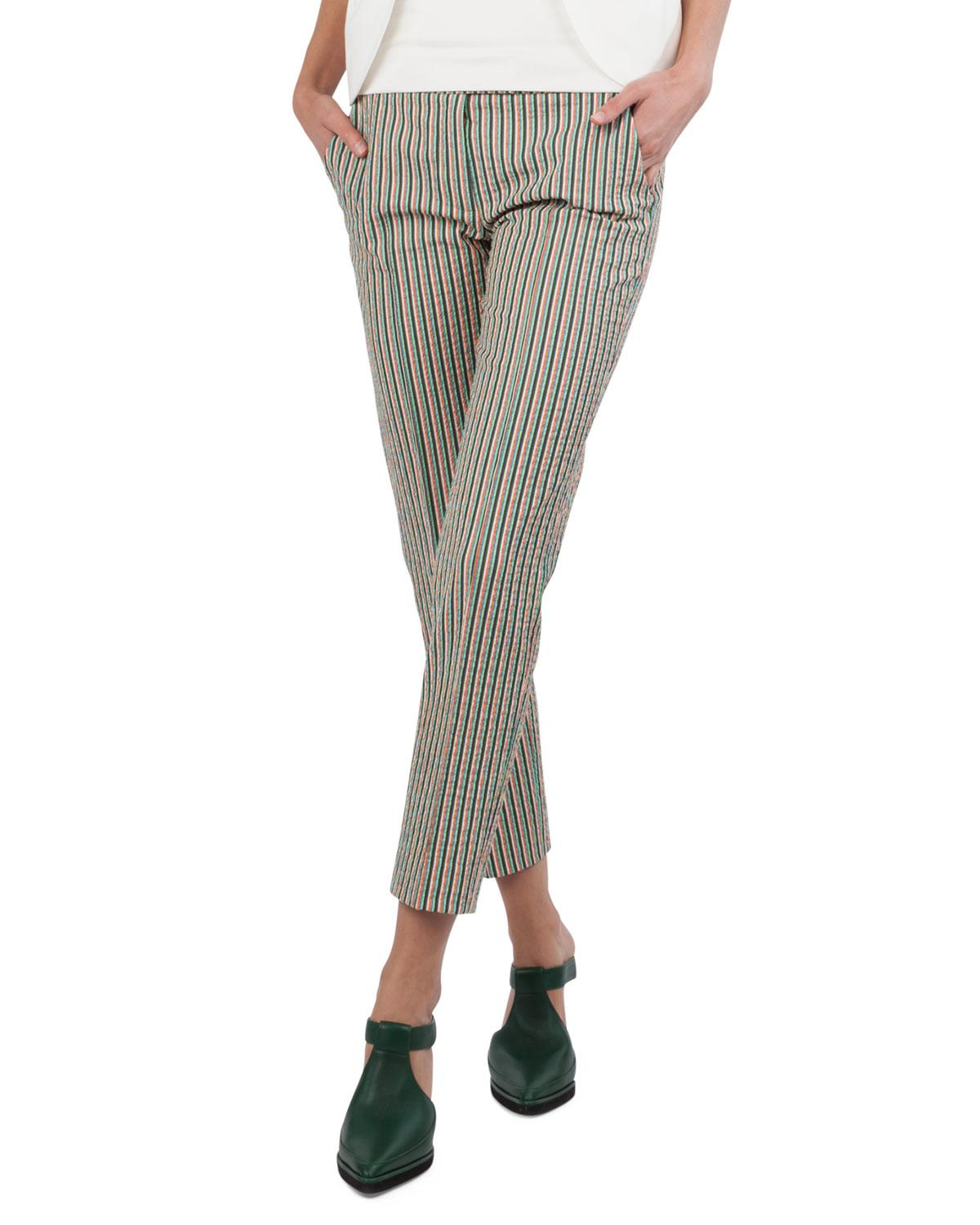 efa5e1a96d9c Lyst - Akris Punto Franklie Striped Seersucker Pants