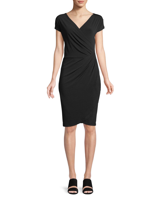 Lyst - Anatomie Francesca Short-sleeve Wrap Dress in Black