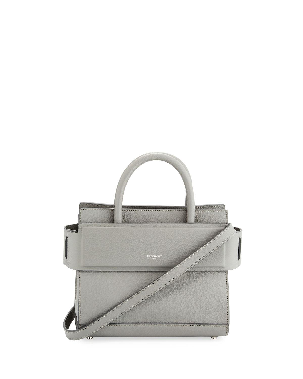 Lyst - Givenchy Horizon Mini Grained Leather Tote Bag in Gray 387dfd4138