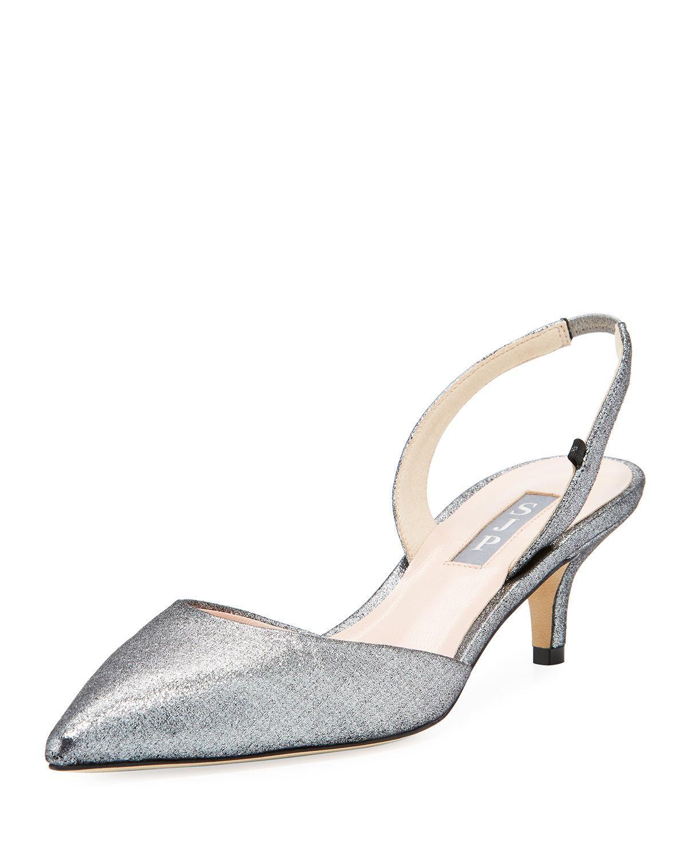 aa4bd40c324 SJP by Sarah Jessica Parker. Women s Bliss Metallic Kitten-heel Slingback  Pumps