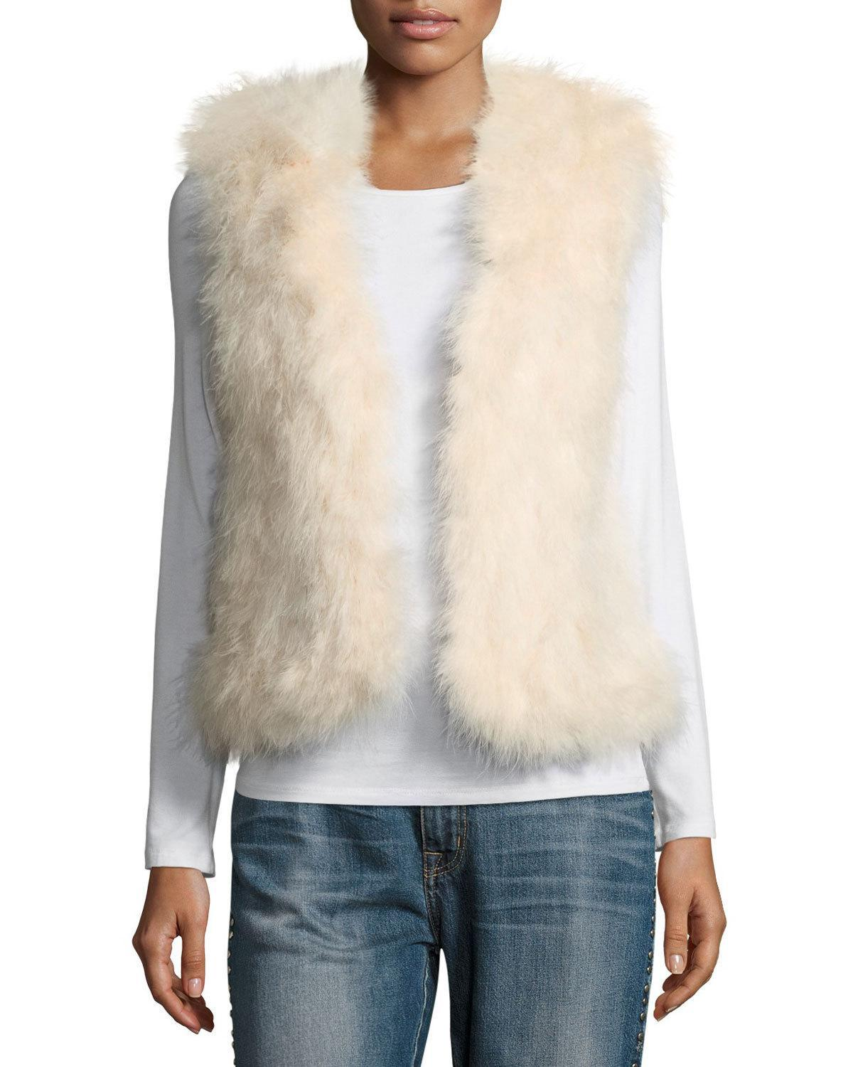 a31c7258412 Club Monaco Violet Marabou Feather Vest in Pink - Lyst