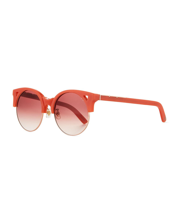 a692061639b Lyst - Pared Eyewear Up   At Em Semi-rimless Round Sunglasses Coral ...