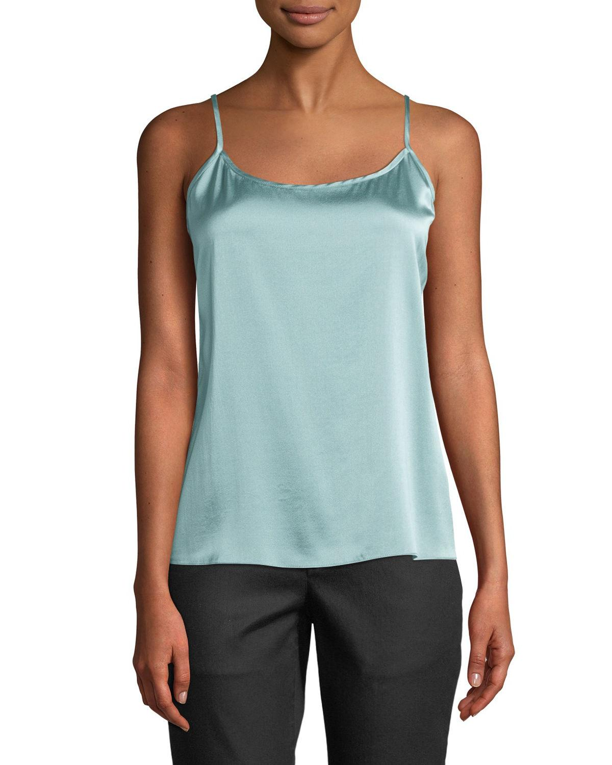 7800b60a8f1674 Lyst - Eileen Fisher Silk Charmeuse Cami Top - Save 75%