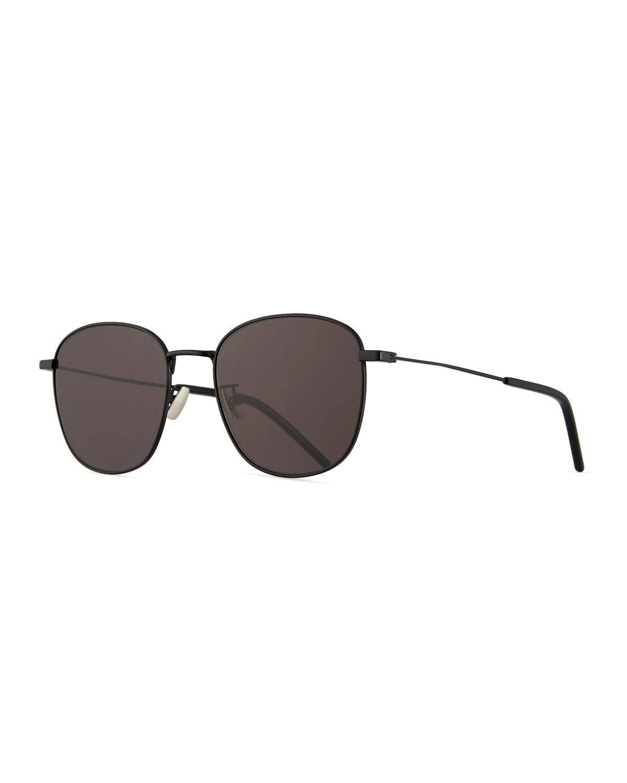 204f544d99 Lyst - Saint Laurent Men s Square Metal Aviator Sunglasses in Black ...