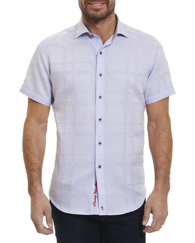 Robert Graham Morley Short Sleeve Jacquard Sport Shirt In