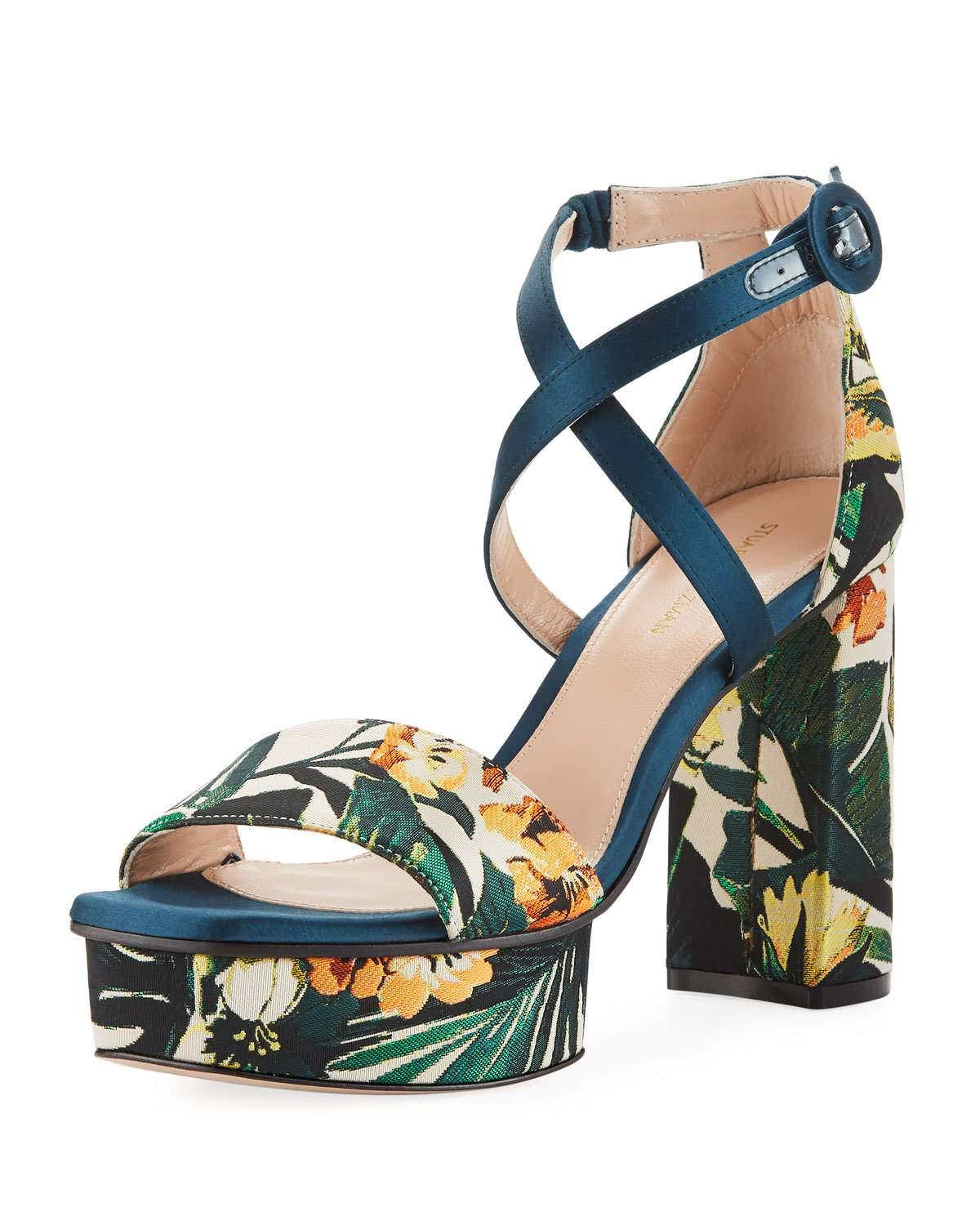 Carla sandals with floral print Stuart Weitzman 2018 Newest Cheap Price Footlocker 3JlGIQOhT