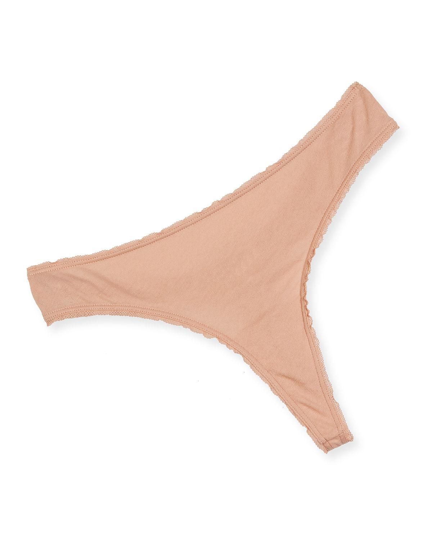 Skin. Women s Pink Lola Organic Cotton Thong.  26 From Neiman Marcus ... 7c2c83e62