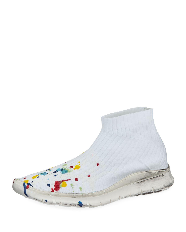 Mens Paint-Splatter Sock Sneakers Maison Martin Margiela 6oISISl