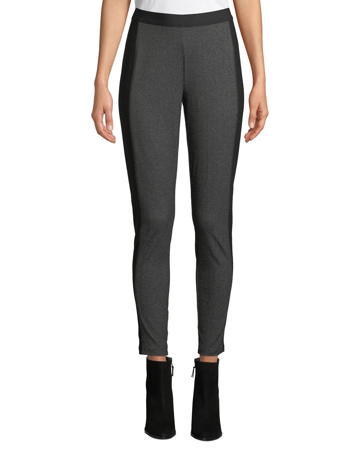5a742de8747 Lyst - Eileen Fisher Herringbone Ankle Leggings in Gray