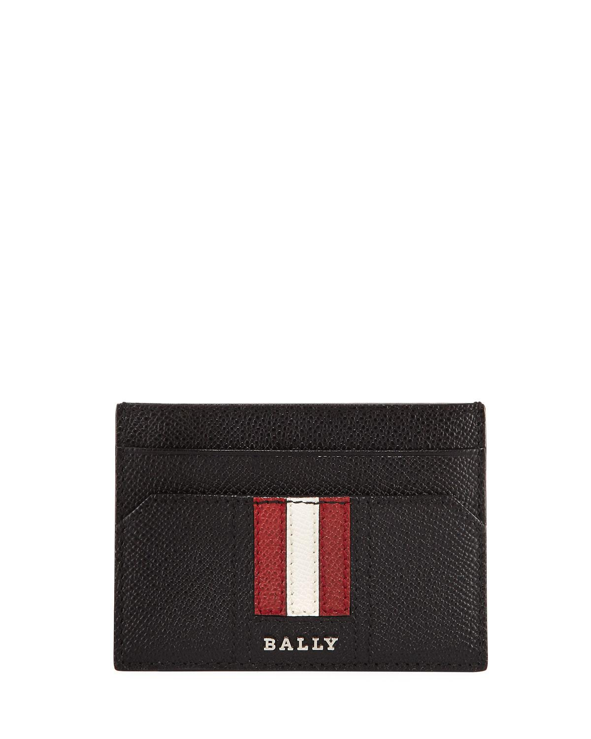 Lyst - Bally Taclipo Leather Business Card Holder in Black for Men