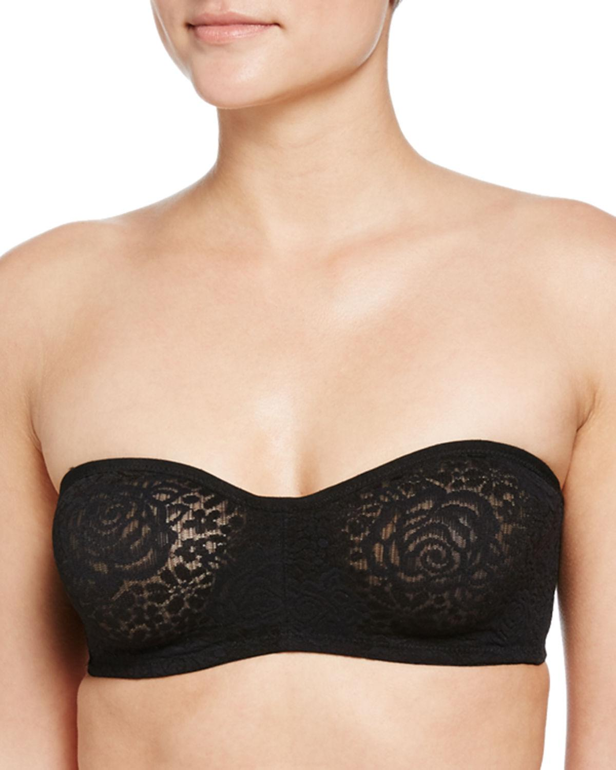 dcae8f97f2 Lyst - Wacoal Halo Lace Strapless Bra in Black