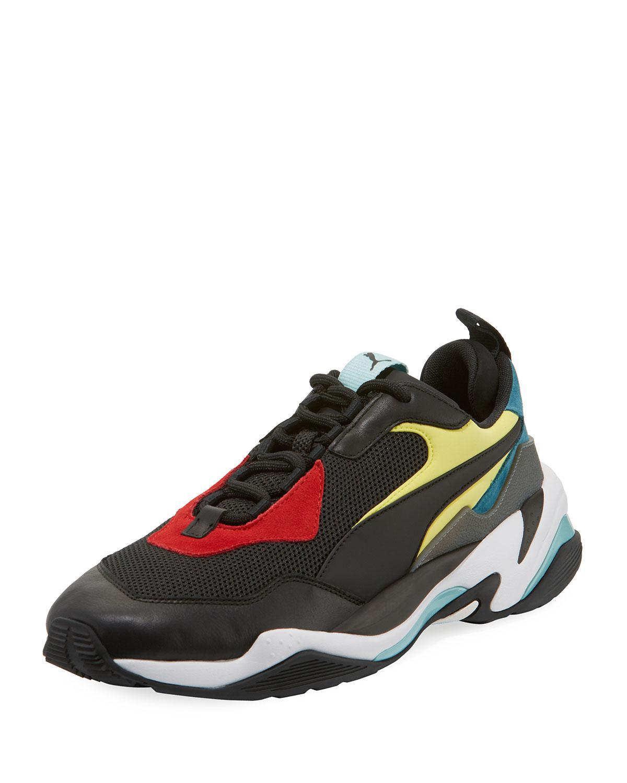 f72358ee340 Lyst - PUMA Men s Thunder Spectra Colorblock Sneaker in Black for Men