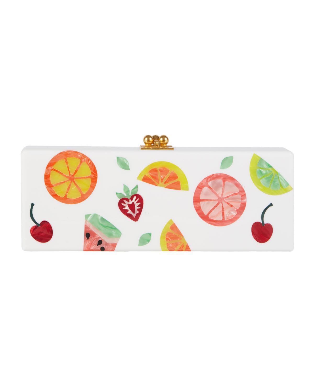 Edie Parker Flavia Fruit Cocktail Frame Clutch Bag 5Gu6xhcLju