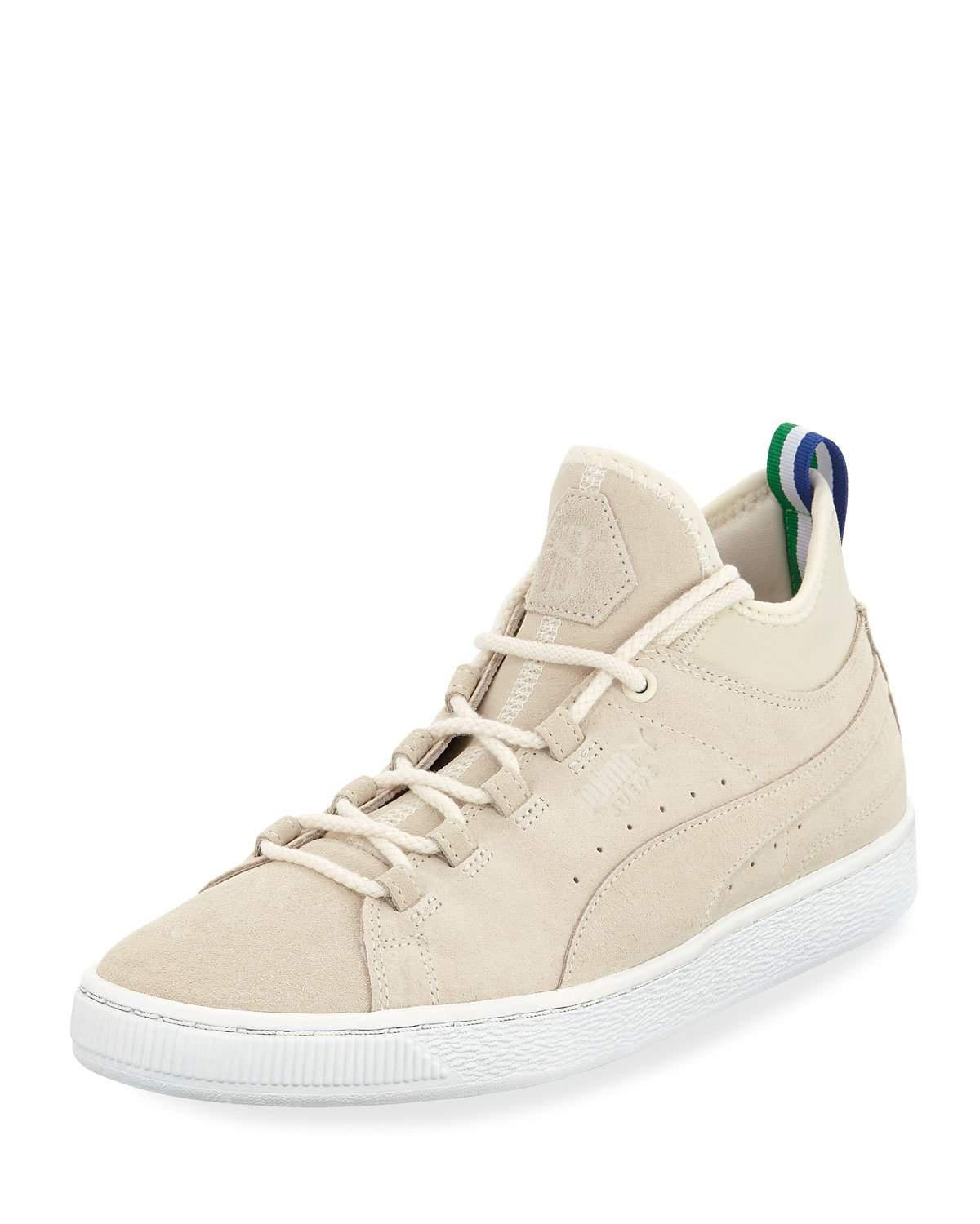 fc36387fcce Lyst - Puma Men s X Big Sean Suede Mid-top Sneakers in White for Men