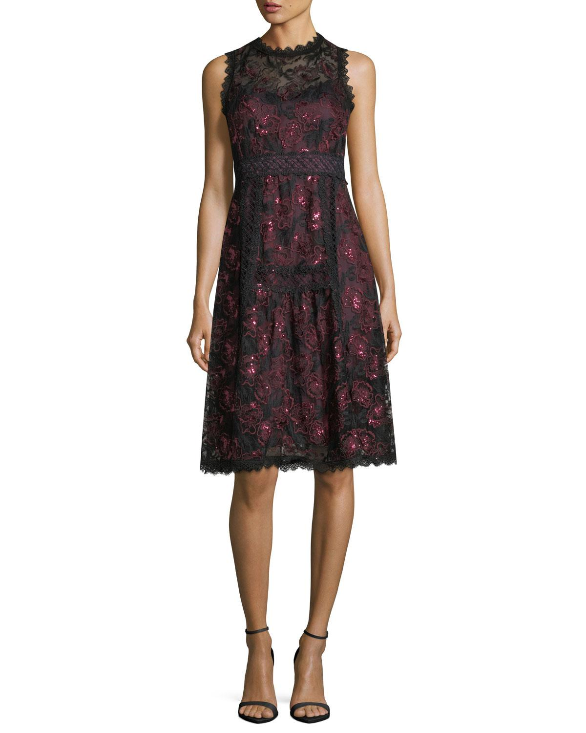 5ceb3cab7b6bc Maroon Lace Cocktail Dress - raveitsafe