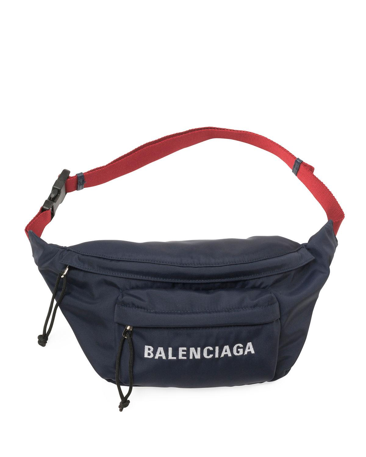 e01d601b0f94 Balenciaga Wheel Canvas Belt Fanny Pack Bag With Logo in Black for ...
