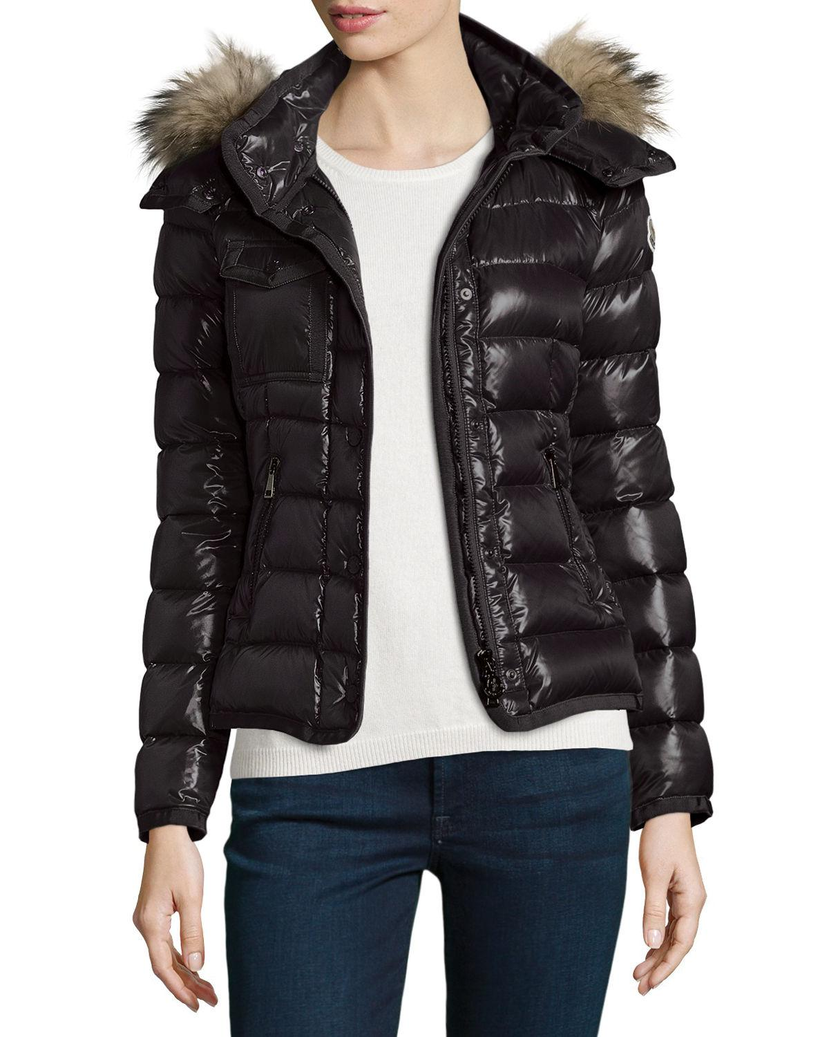 6a1d325e1 Lyst - Moncler Armoise Shiny Quilted Jacket in Black - Save 3%