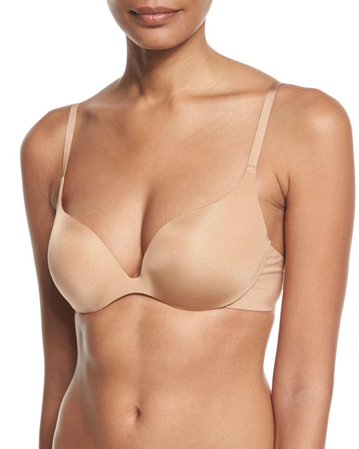 2ecd666bf6eb0 Lyst - Wacoal Intuition Push-up Plunge Bra in Natural