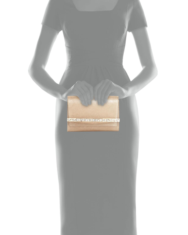 478663cd47 Jimmy Choo Bow Crystal-bar Clutch Bag in Natural - Lyst