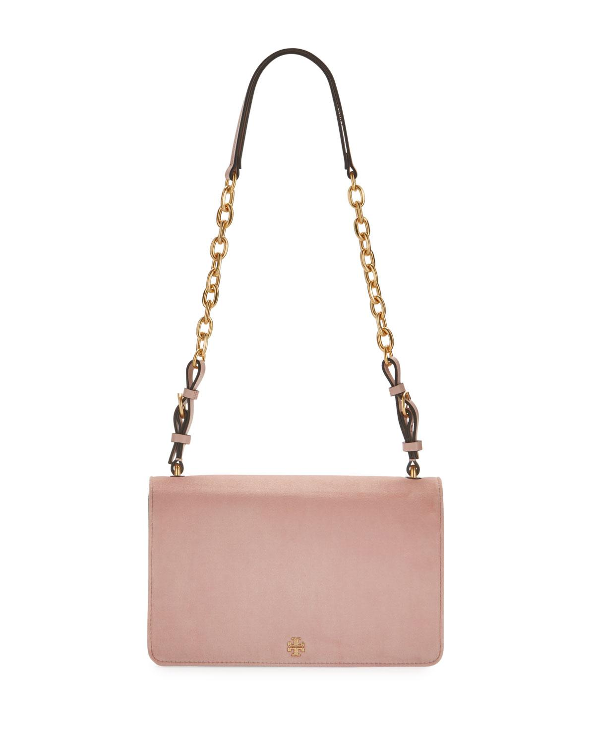 b78f893d858 Lyst - Tory Burch Sadie Velvet Chain Shoulder Bag