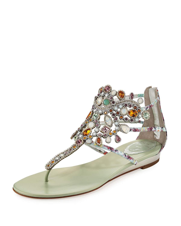 033f4a44770 Rene Caovilla Crystal-chandelier Thong Sandal - Lyst