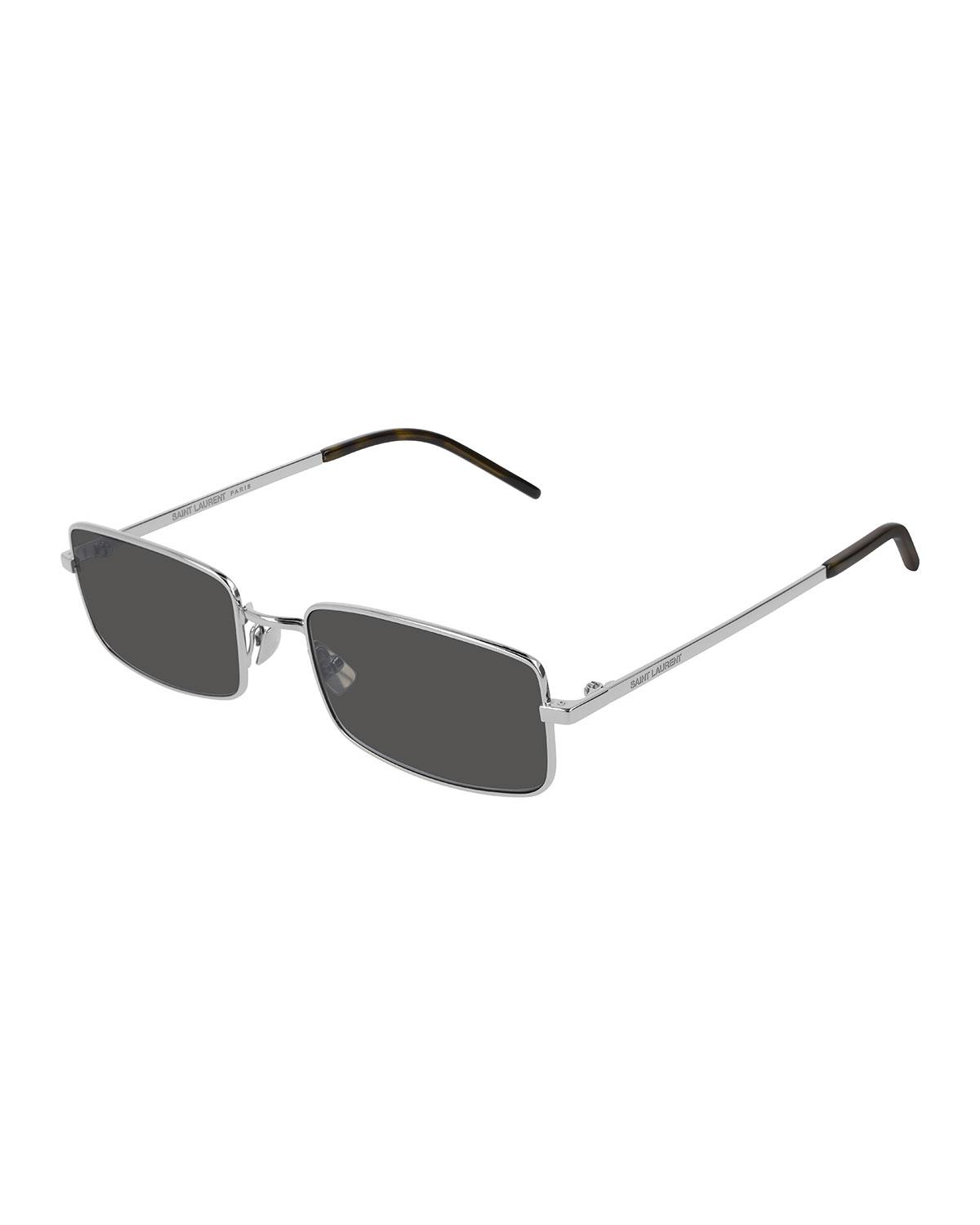 849e816cf1 Lyst - Saint Laurent Men s Slim Metal Rectangle Sunglasses in ...
