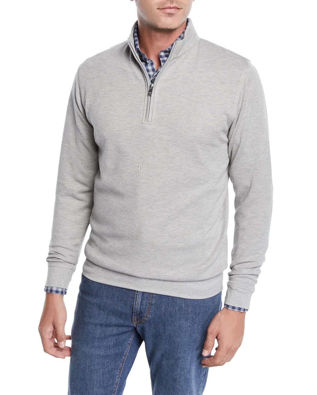 e7d325999d Lyst - Peter Millar Men s Crown Comfort Half-zip Sweater in Gray for Men