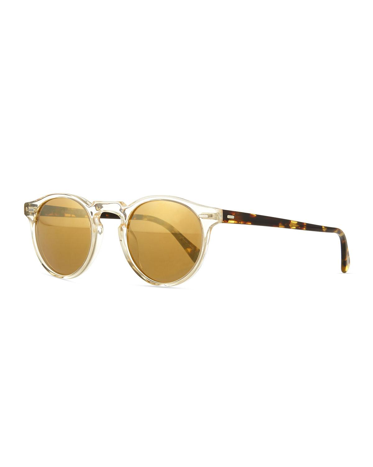 b4d29a28ce2 Oliver Peoples. Women s Gregory Peck Round Plastic Sunglasses.  365 From Neiman  Marcus ...