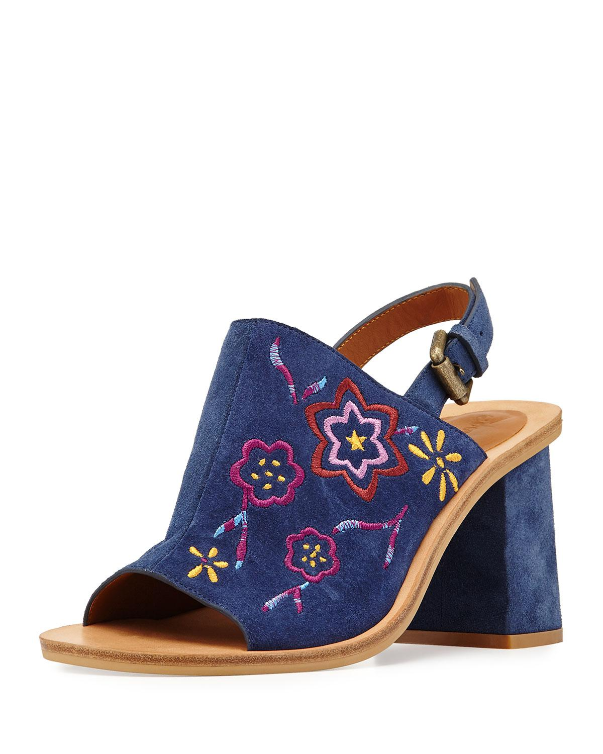 embroidered sandals - Blue See By Chlo�� voSX5BH