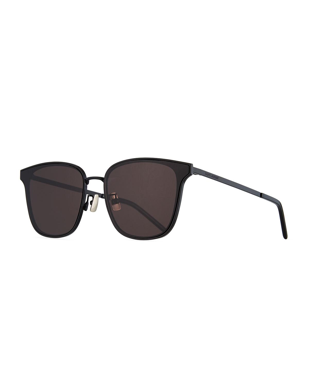 96b5de984c55 Saint Laurent. Black Men s Sl272 Metal Sunglasses - Solid Lenses.  450 From Neiman  Marcus