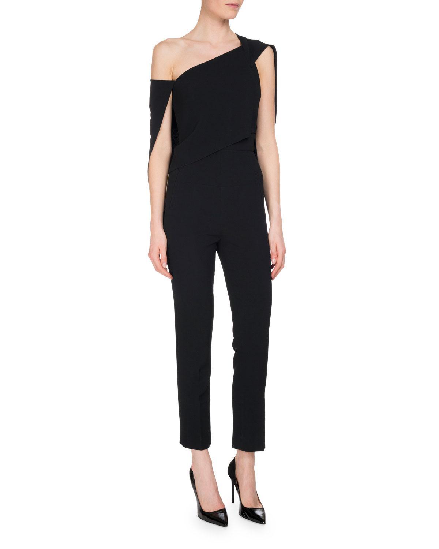 f26678461bf Lyst - Roland Mouret Carlton One-shoulder Jumpsuit in Black