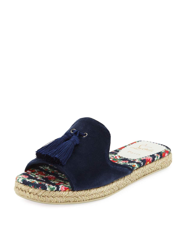 450ec6c06ae2 Lyst - Christian Louboutin Pacha Flat Espadrille Sandal in Blue