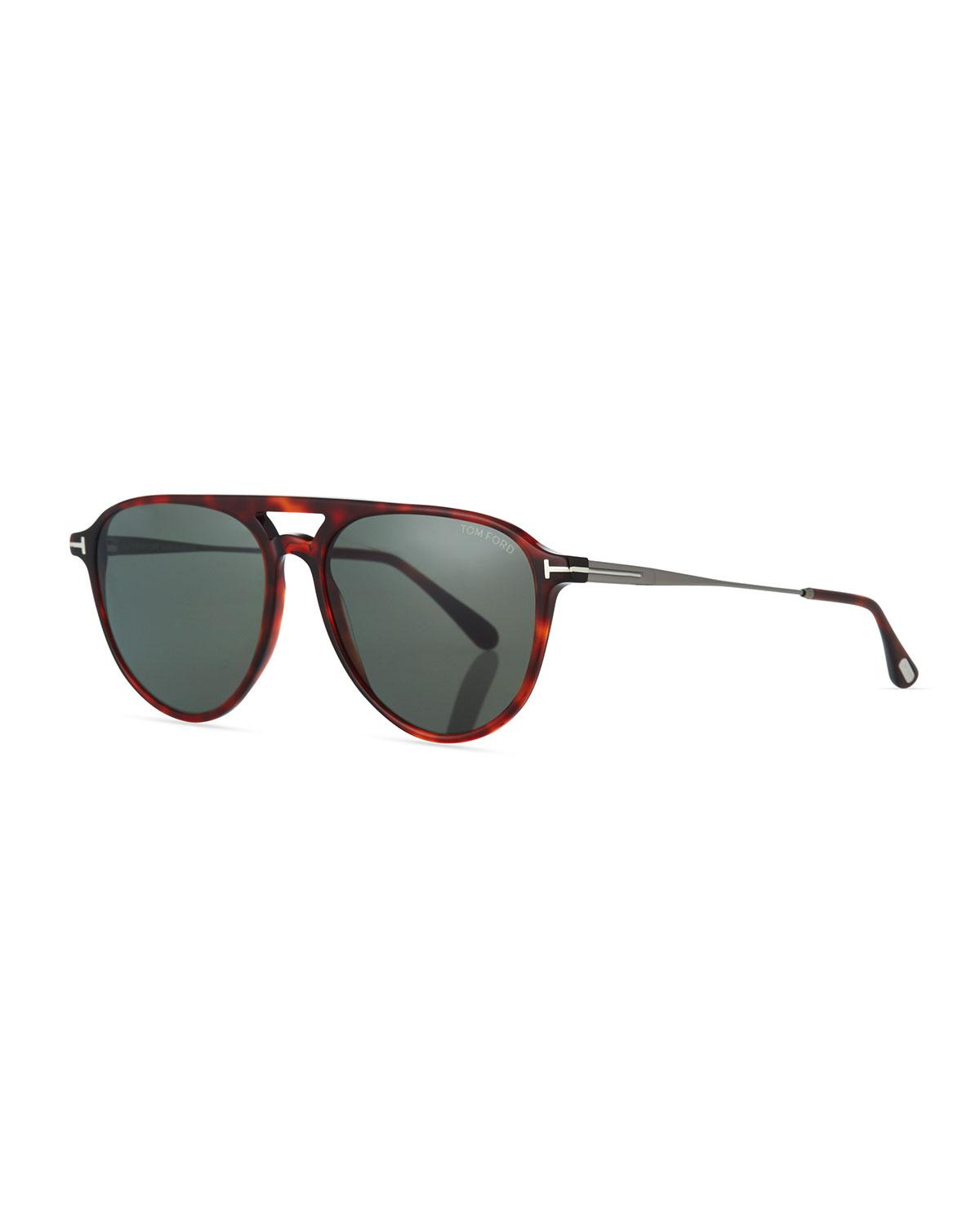bb4607a84560 Lyst - Tom Ford Carlo Acetate-and-metal Aviator Sunglasses in ...