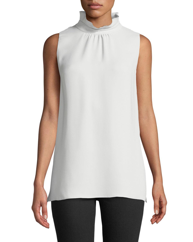 171534a4ef338 Lafayette 148 New York. Women s White Didi Double-georgette Silk Top