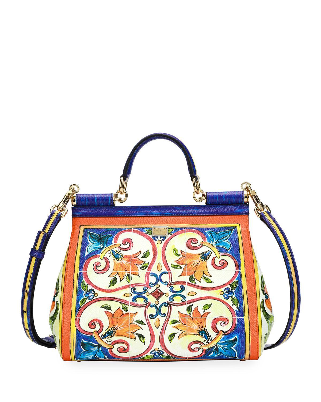 Lyst - Dolce   Gabbana Sicily Dauphine Medium Leather Satchel Bag ... 3bbe76fdef64a