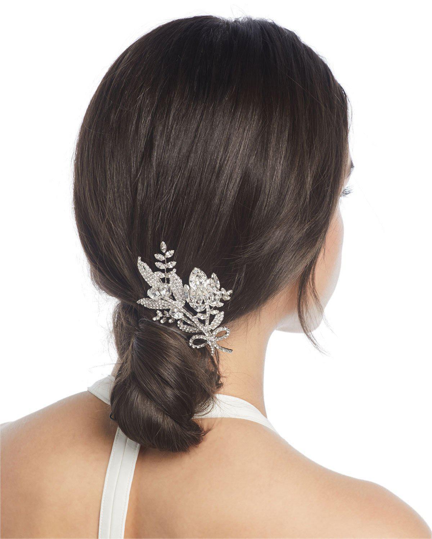 Jennifer Behr Crystal Flower Hair Comb IC0xzXDF