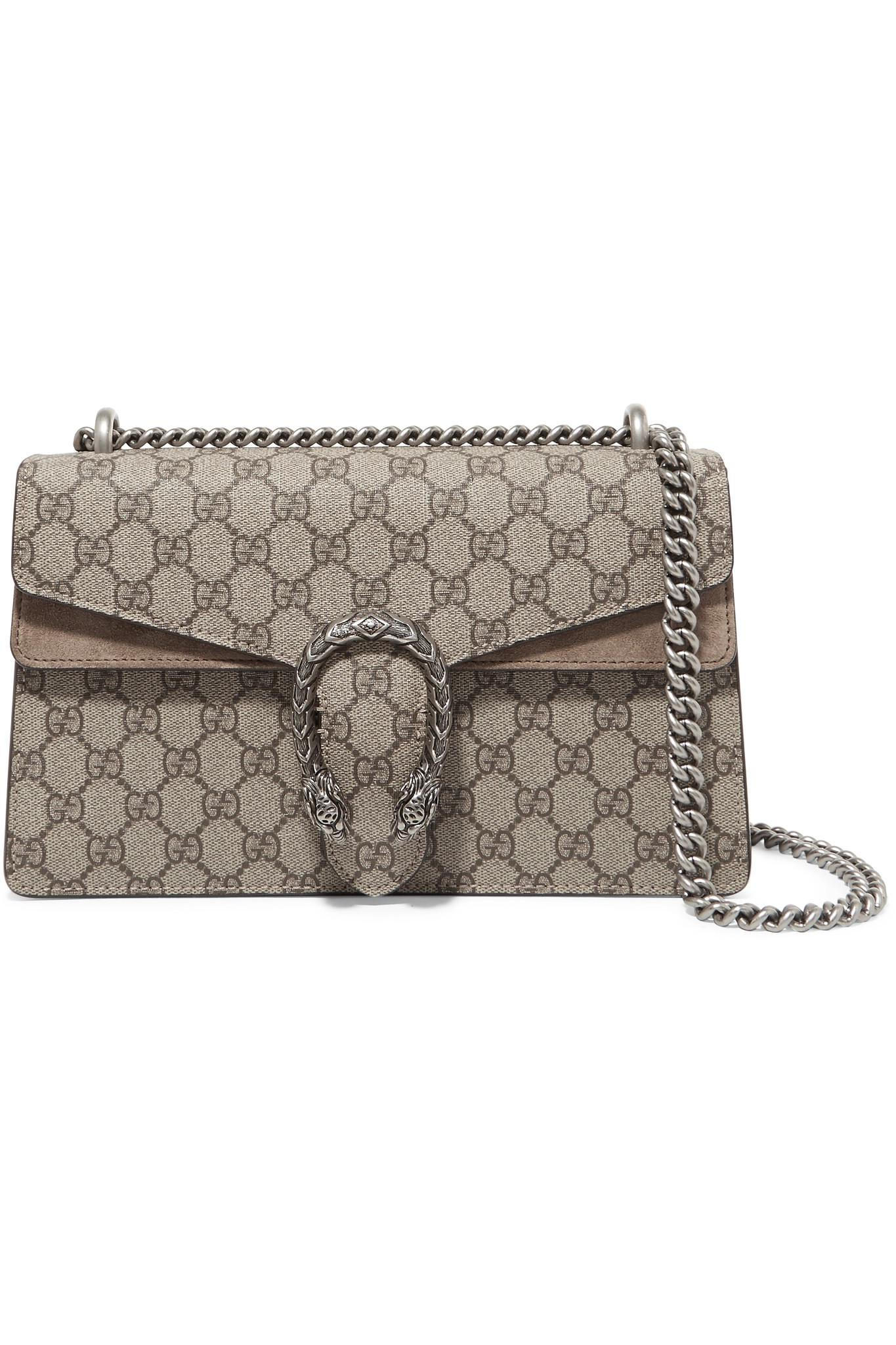 68bec6445d3 Gucci. Women s Natural Dionysus Small Printed Coated-canvas And Suede  Shoulder Bag