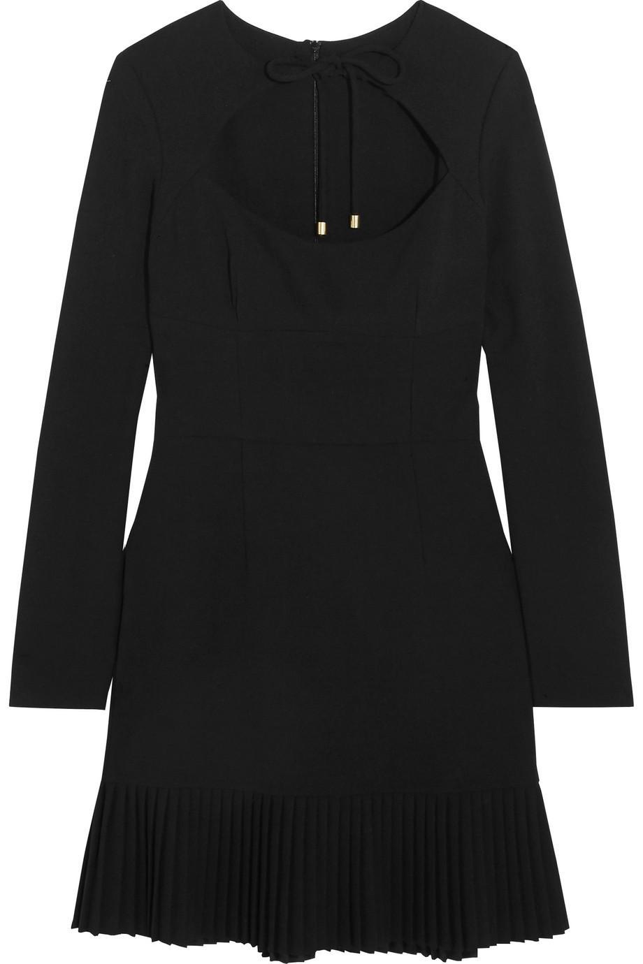 Beltrán Pleated Cutout Crepe Mini Dress - Black Rebecca Vallance Discount Perfect NgrZ4M9l4