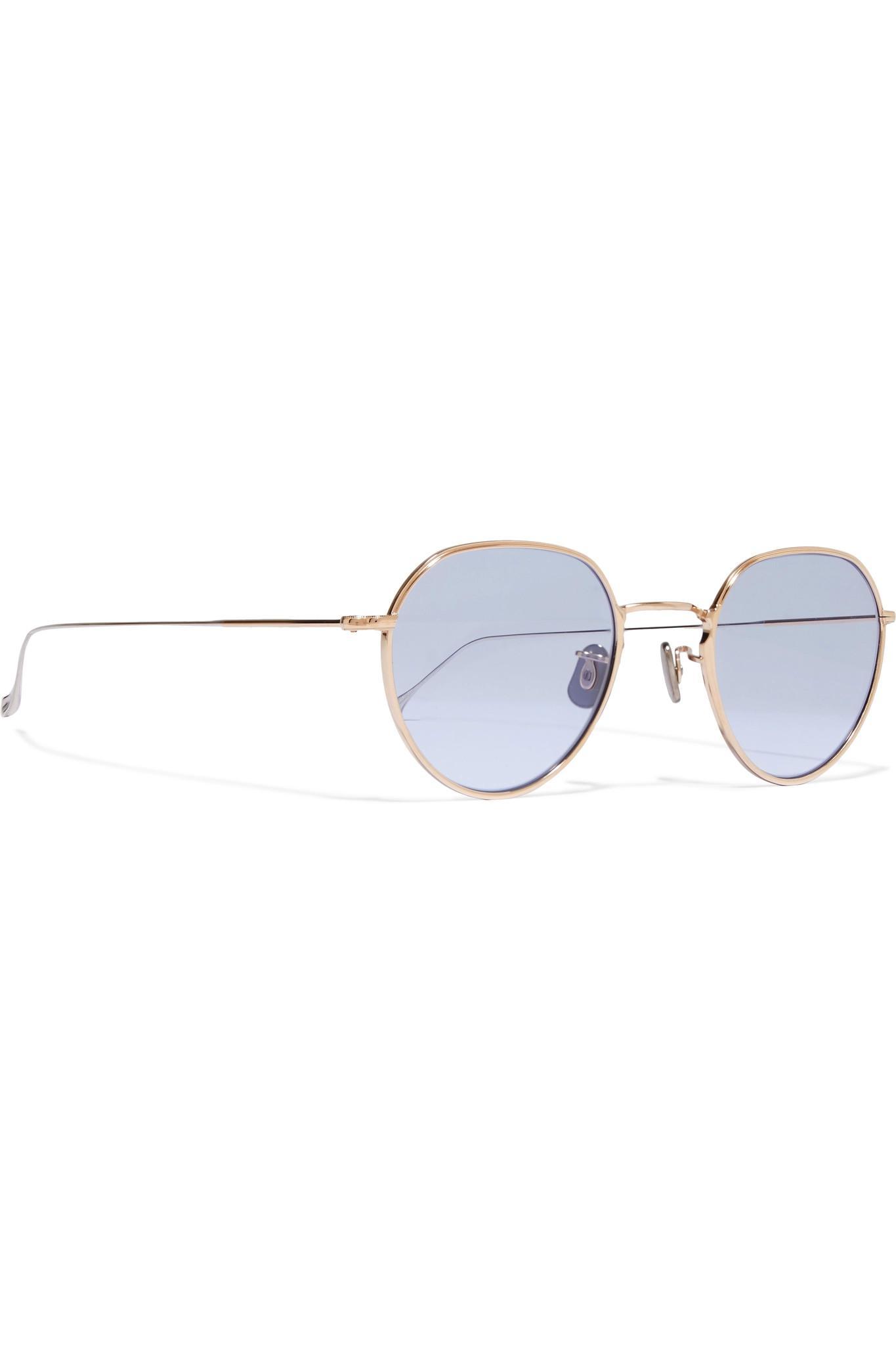 6062e333d2 Lyst - Eyevan 7285 Round-frame Gold-tone Sunglasses in Metallic
