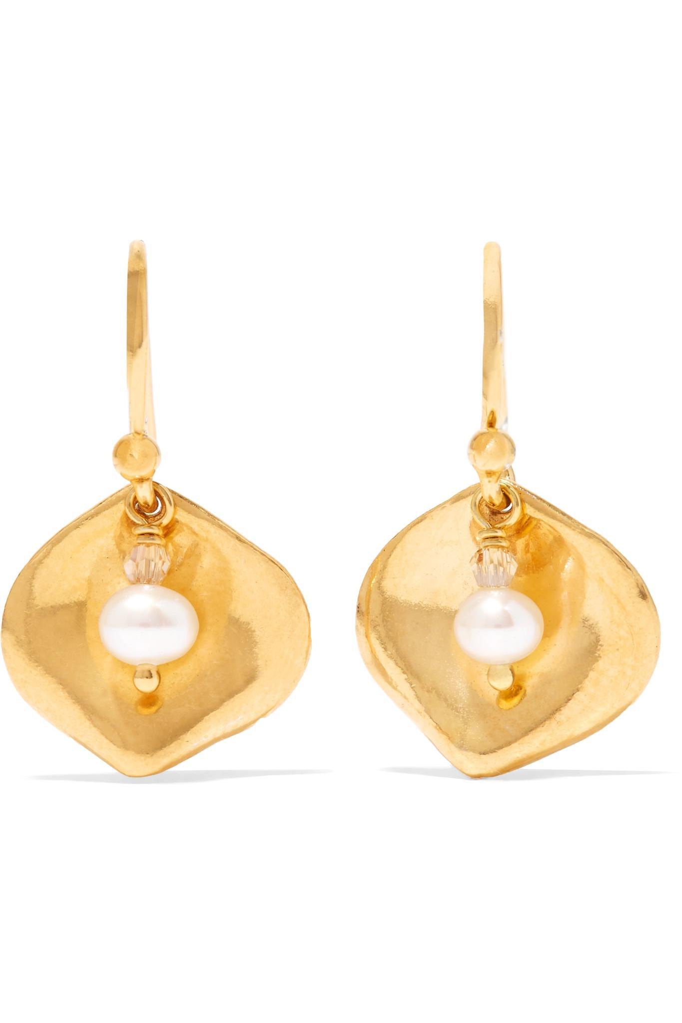 Chan Luu Gold-tone Crystal Earrings rTrAp6