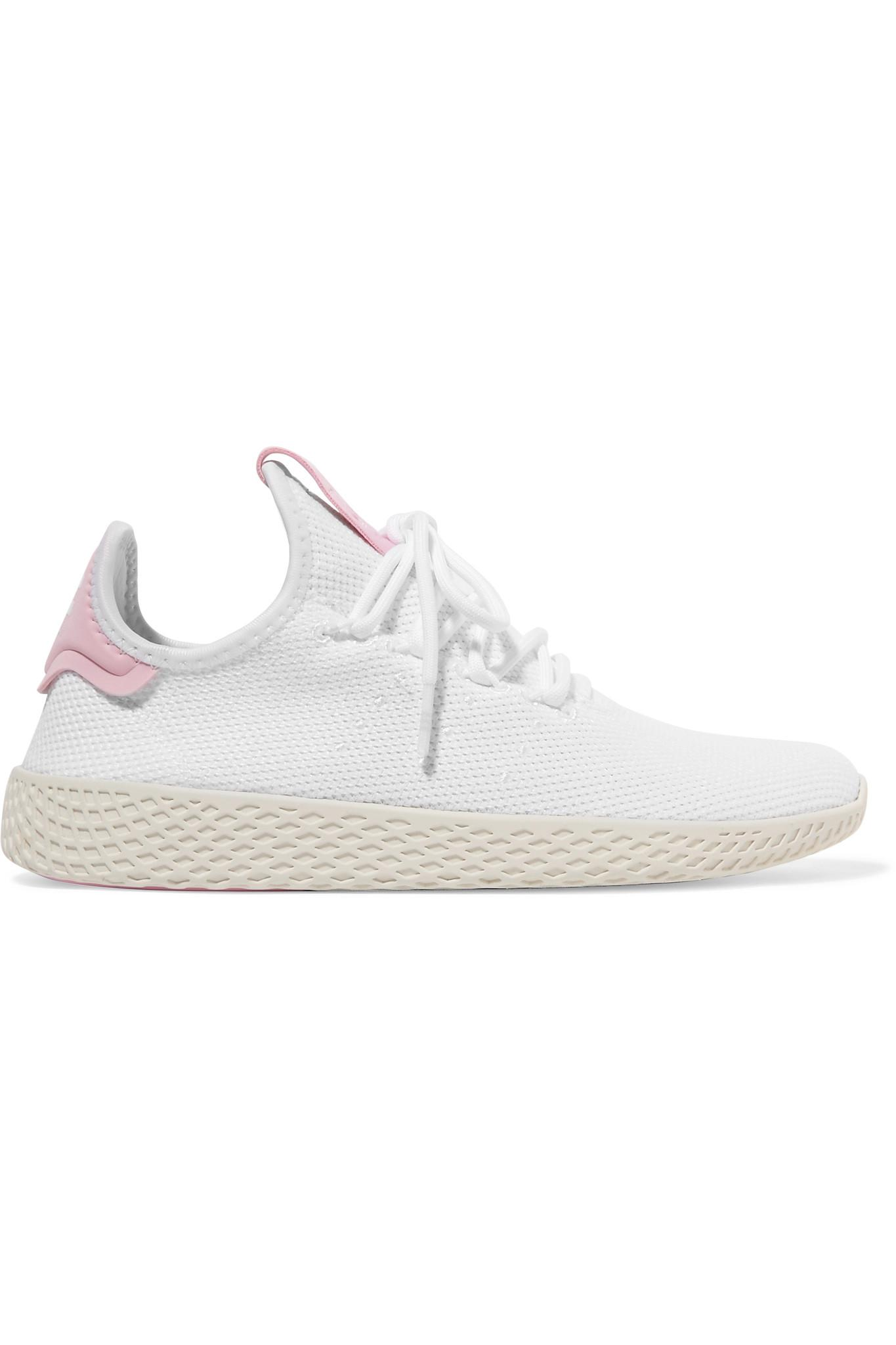 + Pharrell Williams Tennis Hu Stretch-knit Sneakers - White adidas Originals