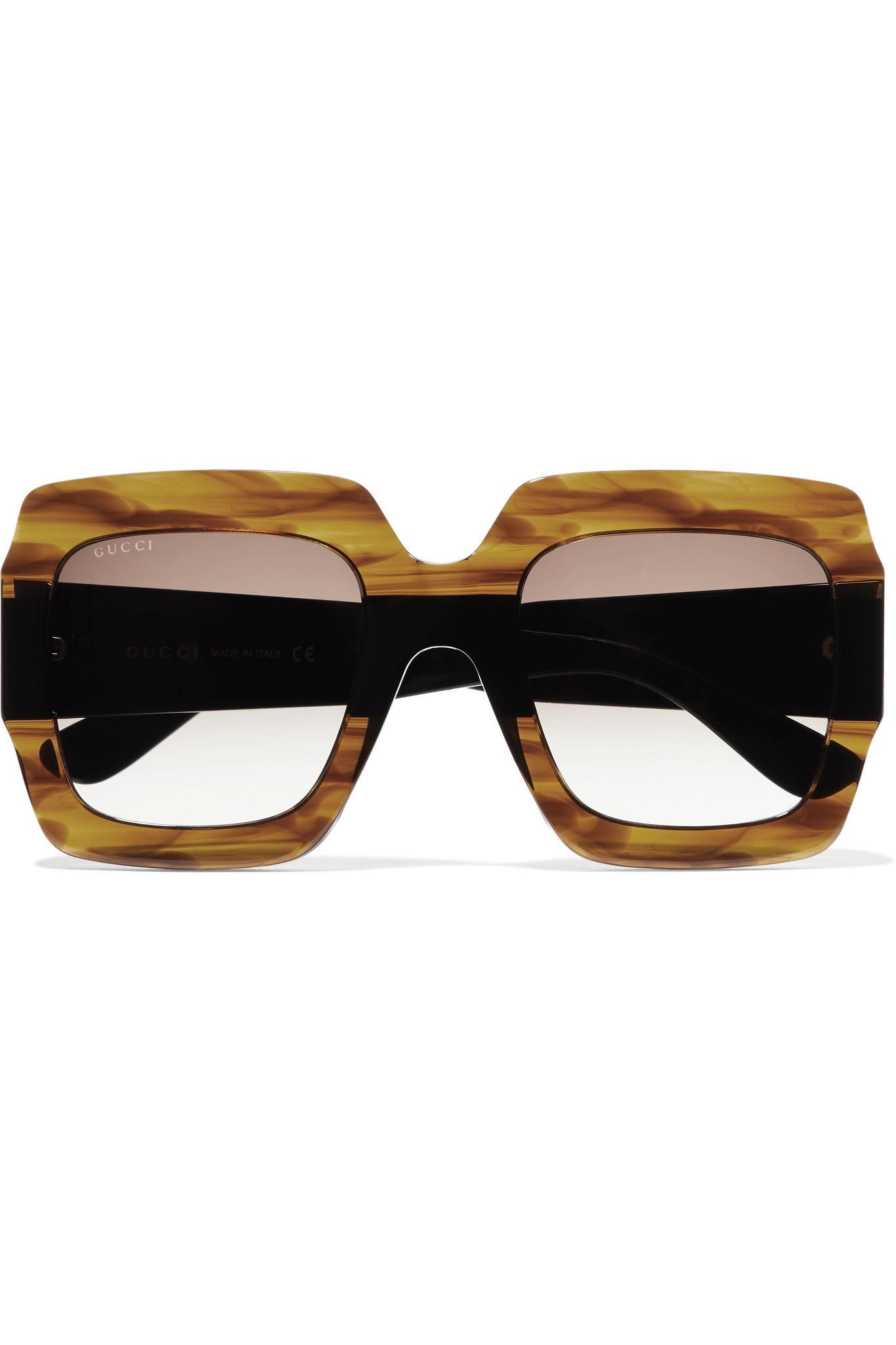 1e688295aa6 Gucci - Multicolor Oversized Square-frame Tortoiseshell Acetate Sunglasses  - Lyst. View fullscreen
