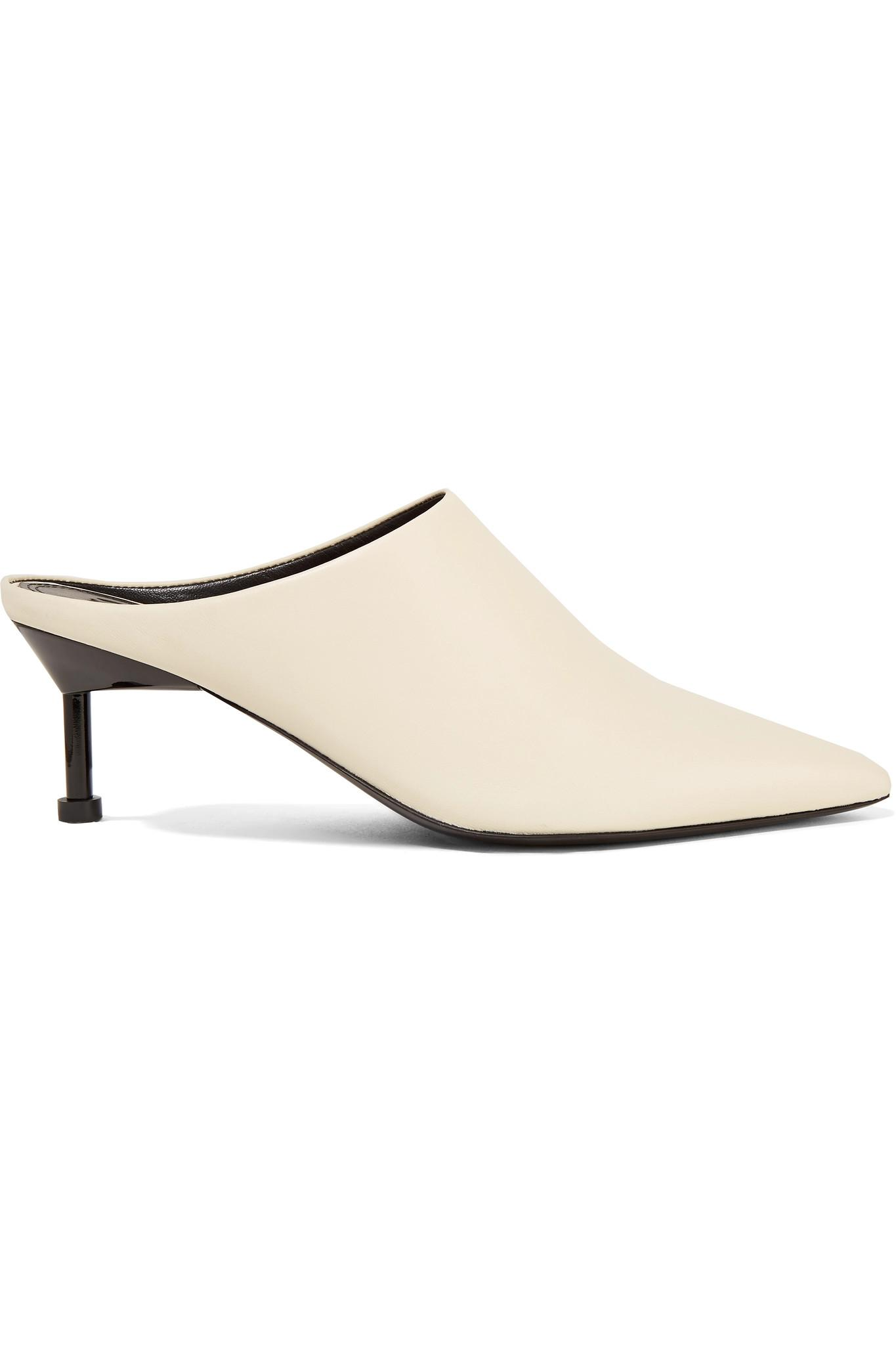 be9ccc997a4 Lyst - MERCEDES CASTILLO Kace Leather Mules in White